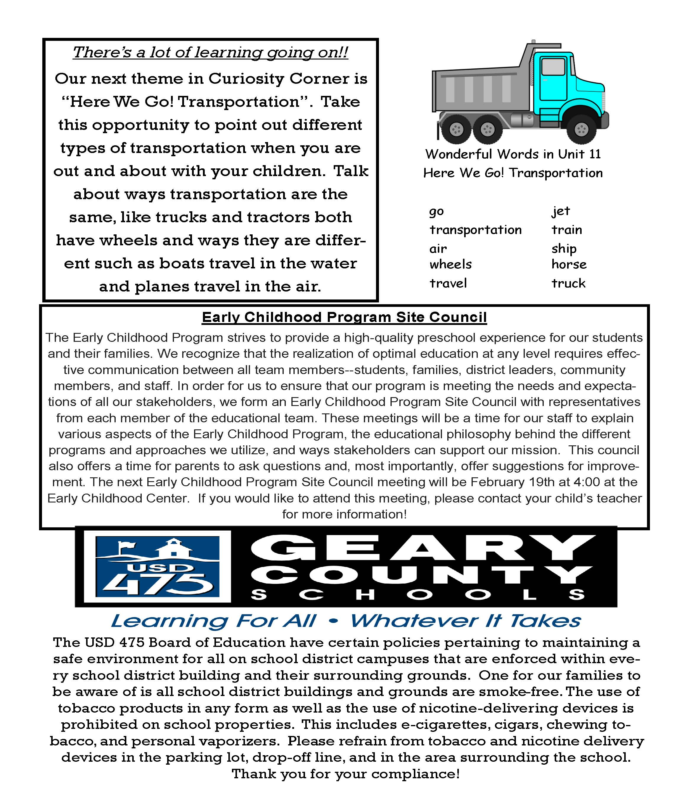 February Newsletter all information is below